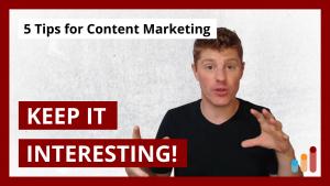 5 Big Tips for Content Marketing Creators